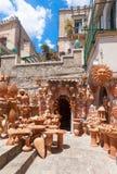 Pottery at Taormina Royalty Free Stock Images