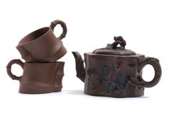 Pottery Tea Service Stock Photography