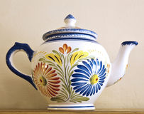Pottery teapot Royalty Free Stock Photo