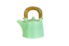 Pottery teapot isolated Royalty Free Stock Photo
