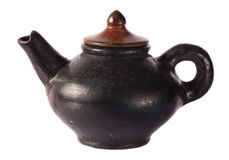 Pottery teapot traditional style Royalty Free Stock Photos