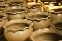 Pottery of thai art in thailand Royalty Free Stock Images