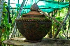 Pottery. Of Thailand. art ashtray bowl Stock Photos