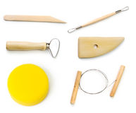 Pottery tools royalty free stock images