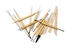 Pottery tools Stock Photography