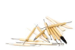 Pottery tools Royalty Free Stock Image