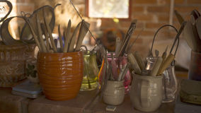 Pottery tools Stock Photos