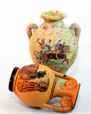 Pottery. Traditional colored painted greek pottery Royalty Free Stock Photo