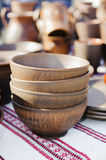 Pottery, traditional handmade souvenirs on the table. Crafts Fai Royalty Free Stock Photography