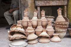 Pottery,Traditional pottery in market ,Egypt Royalty Free Stock Photo