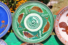Pottery. Traditional romanian pottery for sale Royalty Free Stock Photo