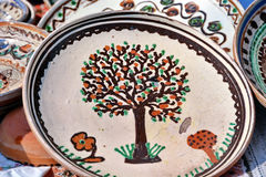 Pottery. Traditional painted pottery from Romania Stock Images