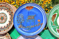 Pottery. Traditional painted pottery from Romania Stock Image