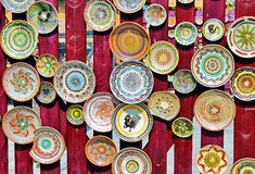 Pottery. Traditional painted pottery from Romania Royalty Free Stock Photo