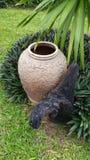 Pottery. Tree stump Stock Photography