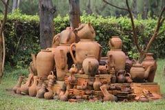 Pottery in Vietnamese garden Stock Image