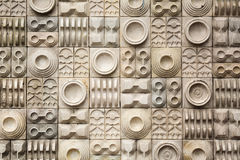 Pottery wall at the Old Market in Kolkata, India Royalty Free Stock Images