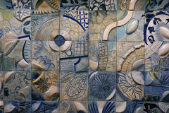 Pottery wall at subway station in Singapore Royalty Free Stock Photo