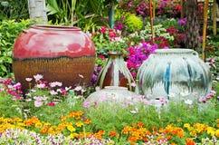 Pottery water jars Stock Photo