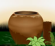 Pottery water storage containers Royalty Free Stock Photography