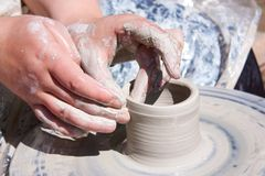 Pottery Wheel Royalty Free Stock Images
