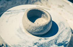 Pottery wheel Royalty Free Stock Image