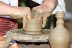 Pottery wheel Stock Image