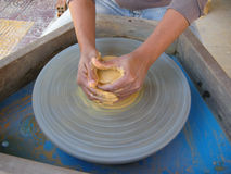 Pottery wheel Royalty Free Stock Photos