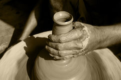 Pottery work Royalty Free Stock Photography