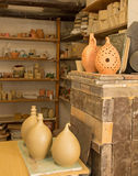 Pottery work room Royalty Free Stock Image