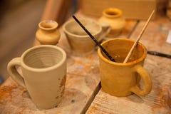 Pottery workshop stock photo