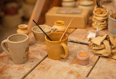 Pottery workshop Royalty Free Stock Photos