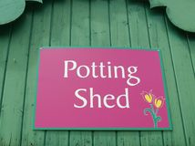 Potting Shed Royalty Free Stock Photography