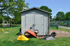 Free Potting Shed And Wheelbarrows Royalty Free Stock Photos - 20119598