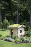 Potting Shed with Roof Garden Royalty Free Stock Photos