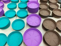 Potting trays colorful Royalty Free Stock Image