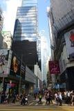 Pottinger gata, Hong Kong Island Royaltyfri Bild