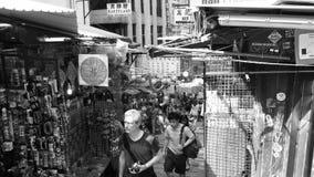 Pottinger gata i centralen, Hong Kong Arkivbild