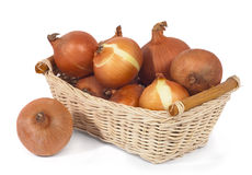 Pottle with onions Royalty Free Stock Image