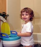 potty тренировка успеха стоковые фото