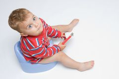 potty тренировка Стоковые Изображения