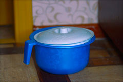 Potty azul del ` s de los niños con los copos de nieve Imagen de archivo libre de regalías