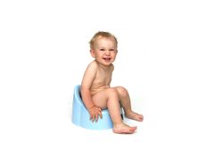 Potty and baby Stock Photos