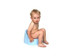Potty and baby Stock Photo