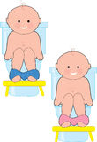 Potty Baby Stock Image