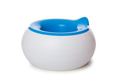 The potty isolated on the white background. Potty isolated on the white background stock image