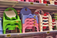 Potty Seats in store Royalty Free Stock Image