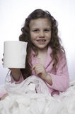 Potty Time - Little Girl Plays with Toilet Paper Royalty Free Stock Photos