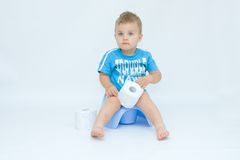 Potty Training Stock Photo