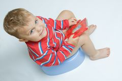 Potty training Royalty Free Stock Images
